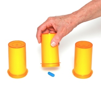 What cup is the medicine under game